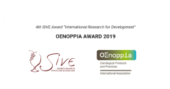 "4th SIVE Award ""International Research for Development"": OENOPPIA AWARD 2019"