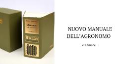 Novità editoriale: VI edizione del Nuovo Manuale dell'Agronomo
