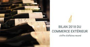 Bilan du commerce extérieur : un chiffre d'affaires record pour les exportations françaises de vins et spiritueux en 2018