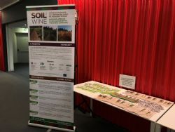 Roll-up e materiali del progetto Soil4wine LIFE+ a Enoforum 2019