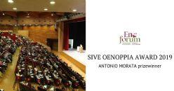 ANTONIO MORATA prizewinner of SIVE OENOPPIA AWARD 2019