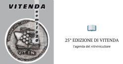 XXVa  edizione di Vitenda, l'agenda del vitivinicultore