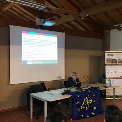 El Profesor Stefano Poni (Coordinador del Proyecto) explica los objetivos de Soil4Wine