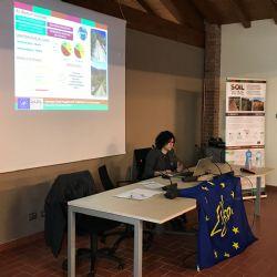 Irene Diti presenta las acciones demostrativas realizadas durante el proyecto