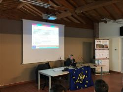 Stefano Poni (Project Coordinator) explains the objectives of Soil4Wine