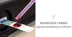 Método electroquímico para la medición en tiempo real de los polifenoles durante la vinificación