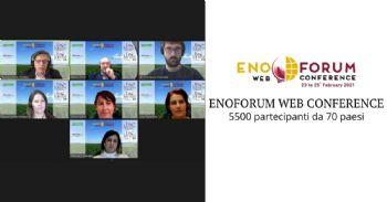 ENOFORUM WEB CONFERENCE: 5500 participantes de 70 países
