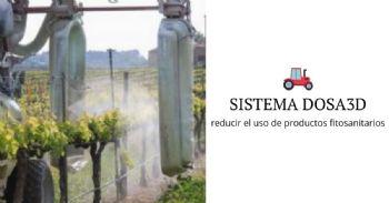 Sistema DOSA3D para reducir el uso de productos fitosanitarios en viñedos y frutales