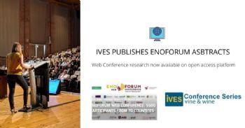 Annonce de la publication des résumés de la conférence ENOFORUM WEB CONFERENCE sur l'IVES Conference Series