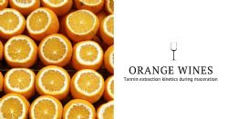 Orange wines: tannin extraction kinetics during maceration of white grapes