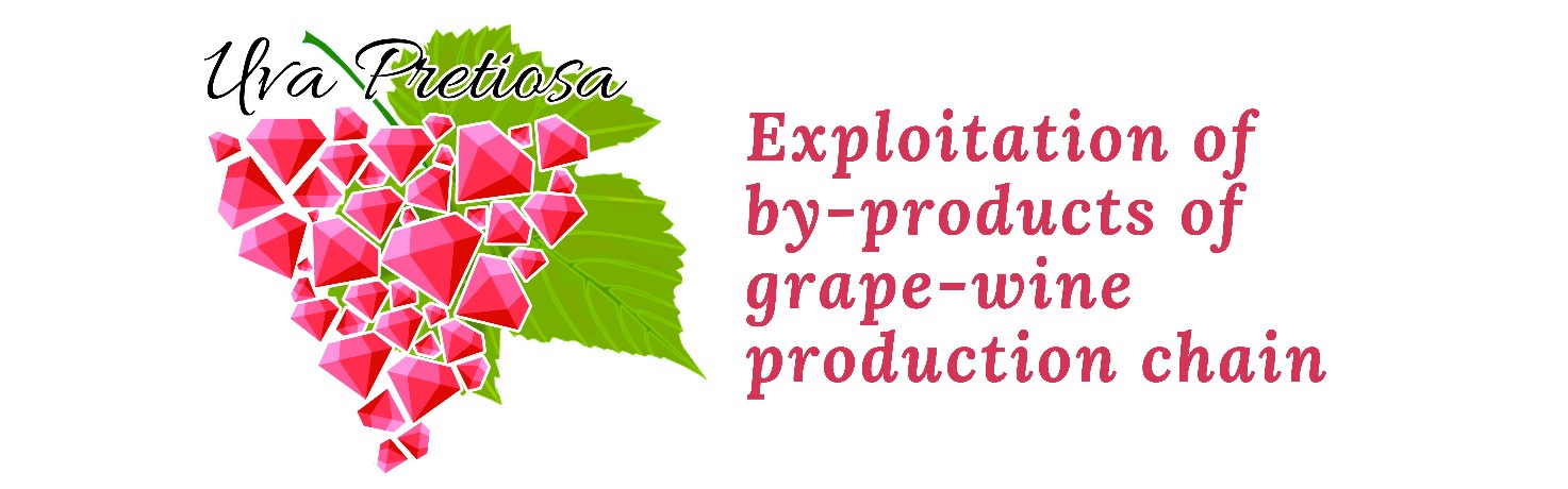 Uva pretiosa Exploitation of by-products of grape-wine production chain
